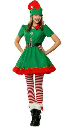Last Trending Get all christmas elf costume Viral womens holiday elf plus size costume Diy Elf Costume, Santa's Helper Costume, Cool Costumes, Costumes For Women, Womens Elf Costume, Costume Makeup, Costume Ideas, Christmas Elf Costume, Christmas Costumes