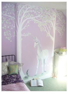 Magical mural featuring a unicorn.