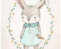 FOX DREAMS 10 X 10 fine art print by KelliMurrayArt on Etsy