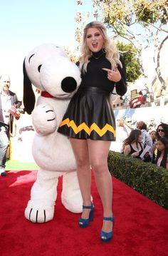 Pin for Later: The Peanuts Movie Premiere Brings Out Some of the Cutest Celebrity Families Meghan Trainor