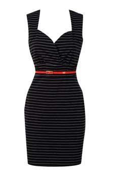 Pinstripe Sweetheart Dress