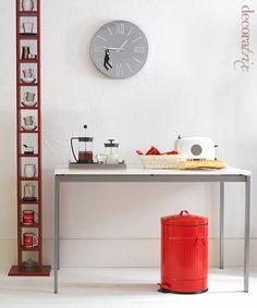 CD tower repurposed as coffee & tea mug storage