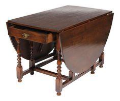 1920s English Jacobean-Style Gateleg Table on Chairish.com