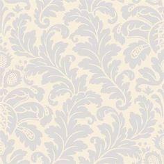 CO2017DE-Candice Olson Shimmering Details Traditional Damask Cream-Lavender Wallpaper
