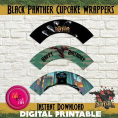 10 Black Panther Birthday Party Favor Games Personalized Scratch Off Games