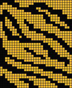 Tiger Skin. Great page of animal print knitting charts.