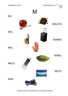 LLIBREt Aprendre de Lletra Catalan Language, Lectures, Preschool, Teaching, Education, Instrumental, Activity Sheets For Kids, Preschool Reading Activities, Writing Activities