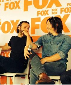 Andrew Lincoln and Norman Reedus Walking Dead