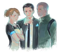 Detroit become human Kara, Connor, Markus