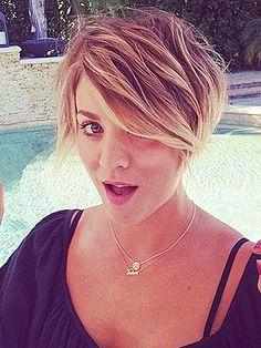 Kaley Cuoco cuts hair, Kaley Cuoco haircut, Kaley Cuoco short hair – Style News - StyleWatch - People.com
