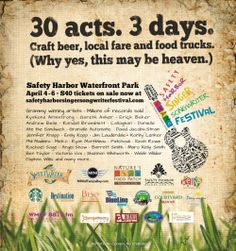 SHAMc will host over 30 musicians at the Safety Harbor Singer Songwriter Festival April 4-6. Buy your tickets here: http://www.safetyharborsingersongwriterfestival.com/