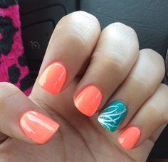 Peach nails! ❤️
