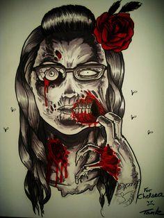 Decontaminating zombie girl