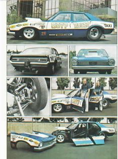 """Gapp & Roush """"Tijuana Taxi"""" Ford Maverick Pro Stock"""