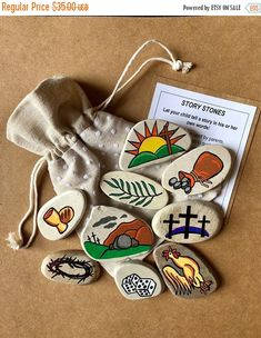 Erzählsteine Ostern easter gifts Passion of Jesus Easter Story Stones, Resurrection Story Stones, Jesus Story Stones, Easter Basket gift, Story Rocks Story Stones, Easter Gift Baskets, Basket Gift, Jesus Stories, Easter Story, About Easter, Diy Ostern, Sunday School Crafts, Palm Sunday Craft