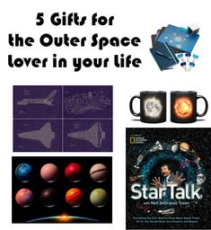 Chocolates, posters, stationary, mugs, books - all amazing gift ideas for the outer space lover in your life!