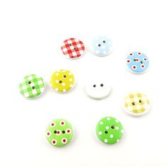 40 Pieces Sewing Clothing Buttons Sew On Wooden Wood Knopfe BB1809 Mixed Lattice Dots Colorful Plush Lovely Accessory Decoration Handmade Cute Scrapbook Flatback DIY ** You can get additional details at the image link.