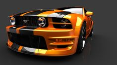 Orange Ford Mustang Car Picture HD Wallpaper
