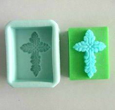 Cross Oblong Soap Mold Flexible Silicone Mould For by happymoulds