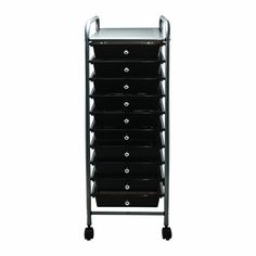 ADVANTUS 10 Drawer Rolling File Organizer Cart, 37.6 X 13 X 15.25 Inches,