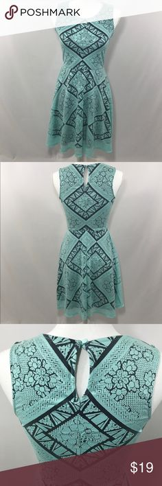 Mint and Gray Lace Tank Dress Keyhole-back Tank Dress. It is a darling dress in great condition! Xhiliration Dresses Midi