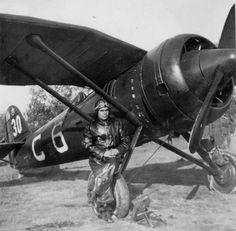 Romanian pilot, Polish plane produced under license by IAR Brasov