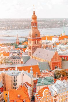 11 Best Places In Latvia To Visit (Hand Luggage Only) Europe Travel Guide, Travel Trip, Travel Planner, Travel Goals, Travel Advice, Riga Latvia, Colourful Buildings, Old Churches, Cities In Europe