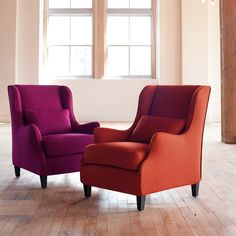 Stephenson Chair Slipcover | Fuchsia Jewel Tone Wool | Schoolhouse Electric & Supply Co.
