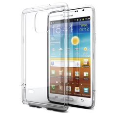 Galaxy Note 4 Case, Enther® [Ultimate Cushion]Slim Scratch / Dust Proof Hybrid Transparent Clear Case with Shock Absorb Trim Bumper(Clear)