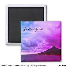 South Africa ZA Lion's Head Landscape View Magnet