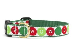 Bow Wow Holiday Dog Collar from UpCountry.  Love the colors and the simple design.