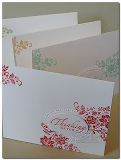 Possible Thank you cards to make in 5 minutes or less - I should start making these now...
