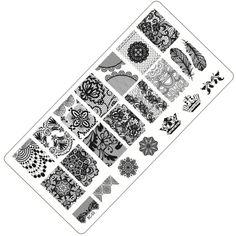 1 unidades de la moda de encaje diseño de uñas konad stamping nail art imagen/placas sello set de manicura de uñas plantilla de la herramienta # bc-03