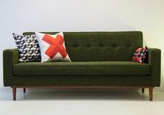 Canapé LOD vert, Kann Design
