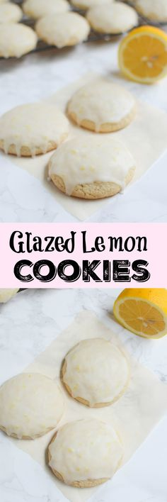Glazed Lemon Cookies - soft lemon cookies with a deliciously tart glaze!