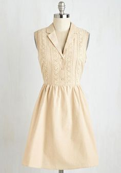 Books and Biscotti Dress. A bookstore regular, you really know how to rock out a weekend day in this latte-colored shirt dress. #cream #modcloth