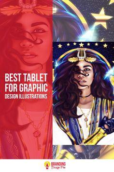 The Best Tablet For Graphic Design blog post by Kenal Louis. #graphicdesign #design Graphic Design Illustration, Illustration Art, Digital Drawing Tablet, Art Tablet, Article Design, Branding Design, Drawings, Blog, Sketches