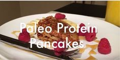 Just three simple ingredients and you'll have high-protein, delicious pancakes in no time! This paleo-friendly recipe makes for a powerfully tasty breakfast any morning. Tasty Pancakes, Protein Pancakes, High Protein, Paleo, Healthy Recipes, Simple, Breakfast, Food, Health Recipes