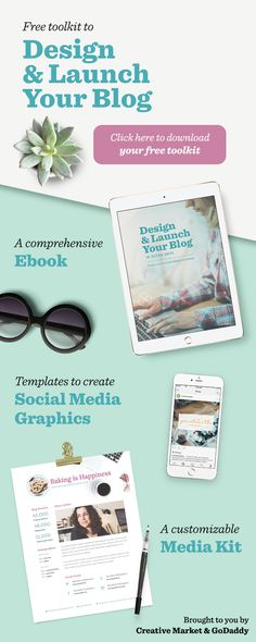 Free Ebook! How to Design & Launch Your Blog in 7 Days: To help you turn your blog idea into a reality, we've partnered up with GoDaddy to compile an amazing toolkit designed to set you up for success.