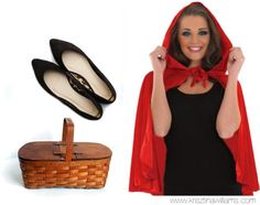 25 Halloween Costumes You Can Make with Your Little Black Dress- just add red cape and picnic basket for Little Red riding hood