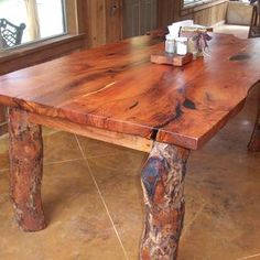 Live Edge Mesquite Dinning Table By Wes Reynolds