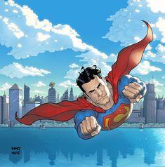 Superman over Metropolis by temukense on DeviantArt