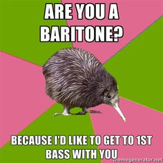 Hahah! Choir pick up lines FTW