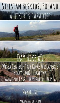 A perfect day hike from Wisła, Poland in the Silesian Beskids - a detailed description of a 25 km - long trek. awomanafoot.com