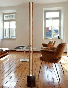 Acheter en ligne Lubois lt By cinier, lampadaire led en bois design Michel Cinier, Collection cinier lt - luminaires led