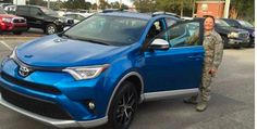 Join us in congratulating Linsey McCluskey on the purchase of this awesome blue 2016 RAV4 SE from Toyota of Fort Walton Beach! #happyclients #DrivenByService