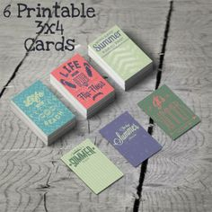 6 Free Printable Project Life 3x4 Cards  Summer Time!