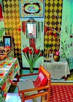 ~ Home as Art ~ by AowDusdee, via Flickr...Fun and funky..