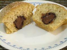 """Nutella-filled """"doughnut"""" muffins!"""