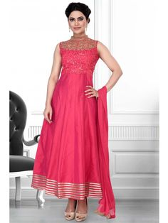 Classic outfit will suit on all occasion to make you look perfect.  Item code : SLWR6502P http://www.bharatplaza.com/new-arrivals/salwar-kameez.html
